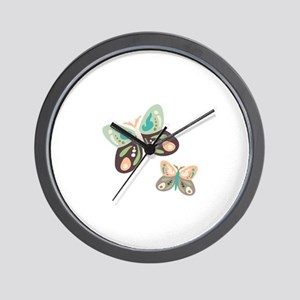 Flying Butterfies Wall Clock