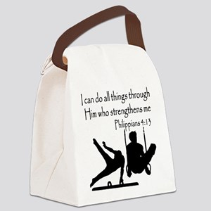 WINNING GYMNAST Canvas Lunch Bag