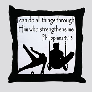 WINNING GYMNAST Throw Pillow