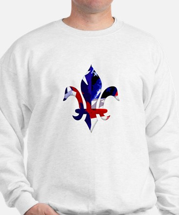 Red, white & blue Fleur de lis Sweatshirt