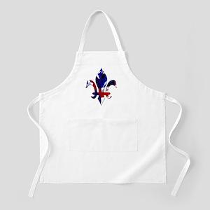 Red, white & blue Fleur de lis BBQ Apron
