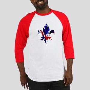Red, white & blue Fleur de lis Baseball Jersey