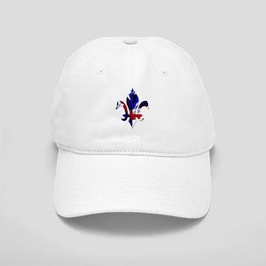 Red, white & blue Fleur de lis Cap