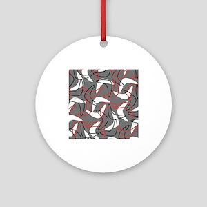 Retro Boomerang Gray Ornament (Round)