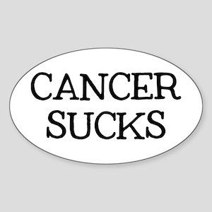 Cancer Sucks Sticker (Oval)