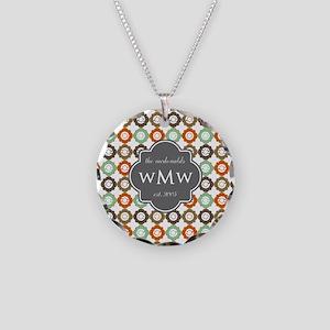 Charcoal Gray Custom Persona Necklace Circle Charm