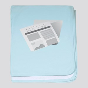 News Paper baby blanket