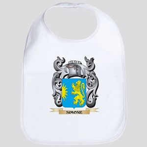 Simone Coat of Arms - Family Crest Baby Bib