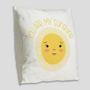 My Sunshine Burlap Throw Pillow