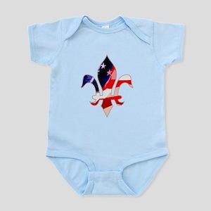 US Flag Fleur de lis Infant Bodysuit