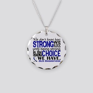 ALS HowStrongWeAre Necklace Circle Charm