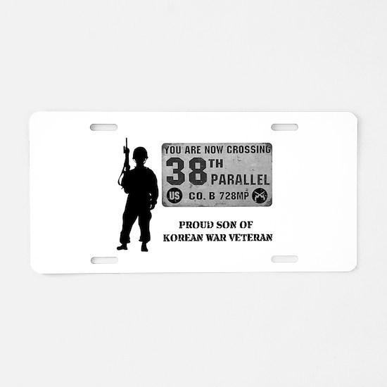 Proud Son Of Korean War Aluminum License Plate