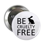 """Be Cruelty-Free 2.25"""" Button (100 Pack)"""