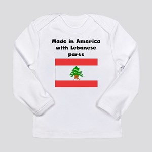 Made In America With Lebanese Parts Long Sleeve T-