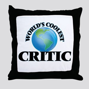 Critic Throw Pillow