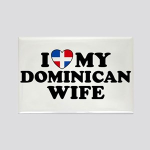 I Love My Dominican Wife Rectangle Magnet