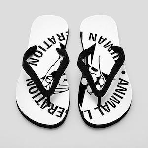 Animal Liberation Human Liberation Vega Flip Flops