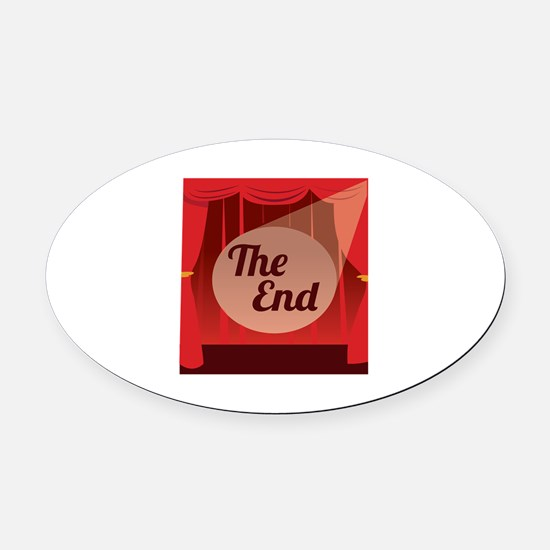 The End Oval Car Magnet