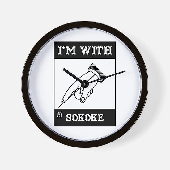 I'm With The Sokoke Wall Clock