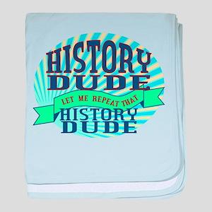 History Dude baby blanket