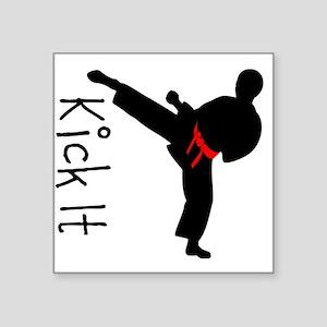 """Kick It Square Sticker 3"""" x 3"""""""