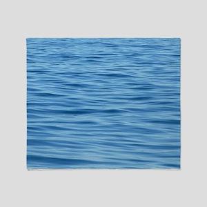 Peaceful Ocean Ripples Throw Blanket