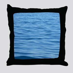 Peaceful Ocean Ripples Throw Pillow