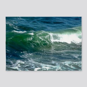 Blue Green Wave 5'x7'Area Rug