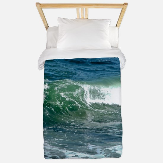 Blue Green Wave Twin Duvet
