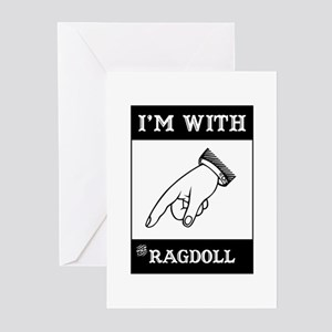 I'm With The Ragdoll Greeting Cards (Pk of 10)