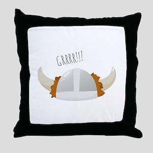 Grrr Viking Throw Pillow