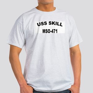 USS SKILL Ash Grey T-Shirt