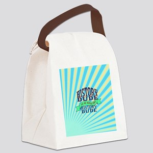 History Dude Canvas Lunch Bag