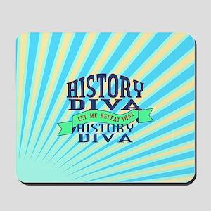 History Diva Mousepad