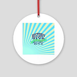 History Diva Ornament (Round)