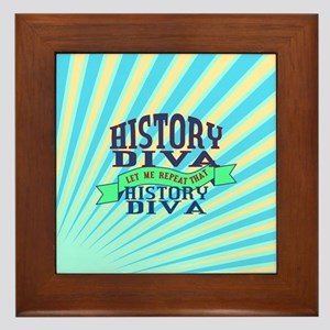 History Diva Framed Tile