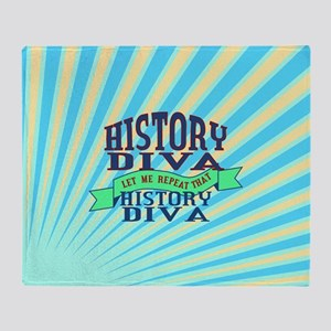 History Diva Throw Blanket
