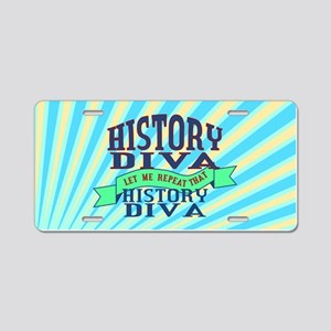 History Diva Aluminum License Plate