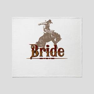 Western Bride Throw Blanket