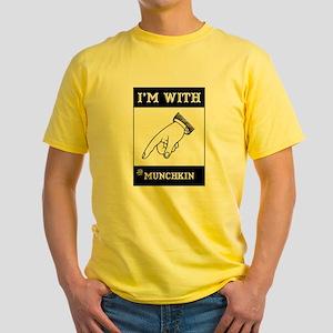 I'm With The Munchkin Yellow T-Shirt