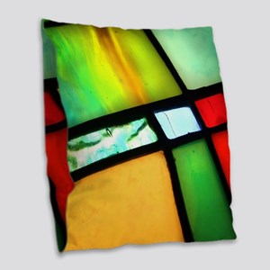 Stained Glass Burlap Throw Pillow