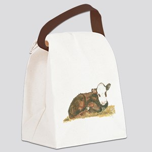 calf lying down Canvas Lunch Bag