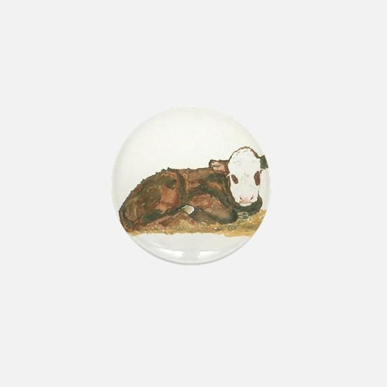 calf lying down Mini Button