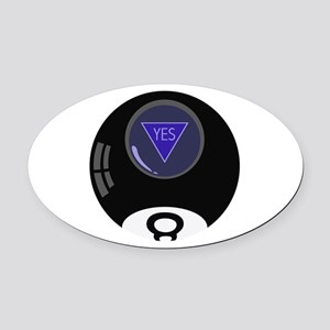 8 Ball Yes Oval Car Magnet
