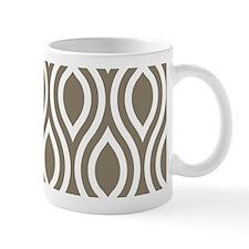 Modern Tan Ogee Pattern Mug