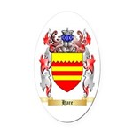 Hare Oval Car Magnet