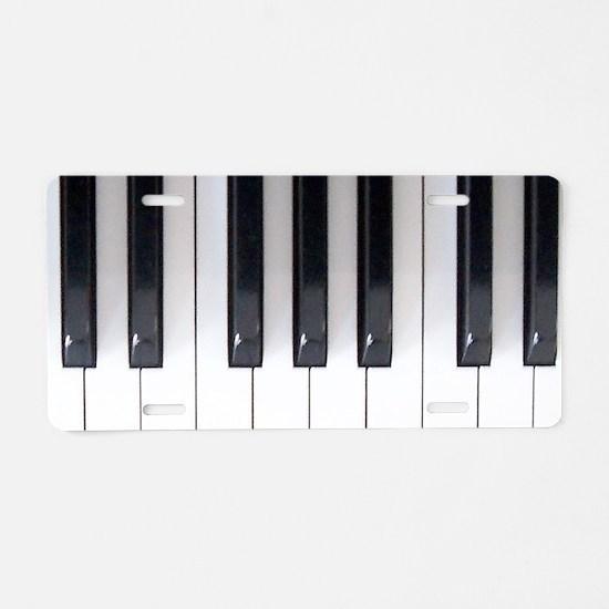 Keyboard 7 Aluminum License Plate