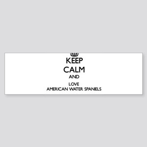 Keep calm and love American Water S Bumper Sticker