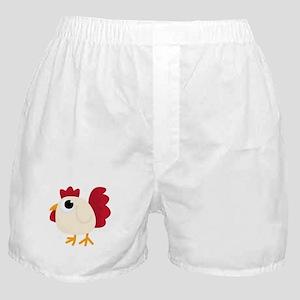 Funny White Chicken Boxer Shorts