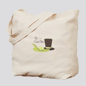 Fit For Each Other Tote Bag